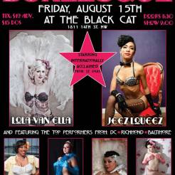 Washington, D.C. 8/15 Show Me *DC* Burlesque