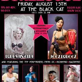 Washington, D.C. 8/15 Show Me *DC* Burlesque