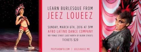 TORONTO- Class with Jeez Loueez March 6th