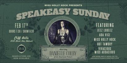 DETROIT - Speakeasy Sunday February 17th