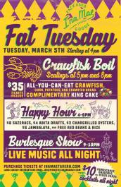 3/5 - Fat Tuesday at Ina Mae Tavern