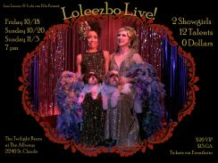 October 18, 20, November 3 NEW ORLEANS Loleezbo - LIVE!