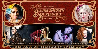 Louisville, KY - January 24 & 25 - Bourbontown Burlesque Festival