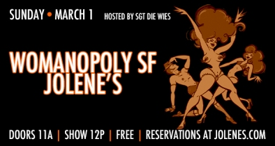 SF - March 1st 12pm - Womanopoly