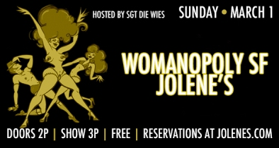 SF - March 1st 3pm - Womanopoly